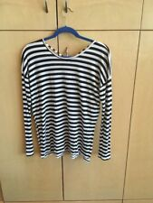 Black And White Striped Hollister T-Shirt Women's Size Small