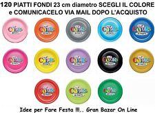 120 PIATTI FONDI PVC BUFFET CATERING Scegli il Colore PARTY FESTA RICEVIMENTO