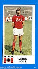 FOOTBALL 1976 BELGIO -Panini Figurina-Sticker n. 31 - M. POELS - ANTWERP -Rec