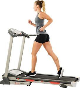 Sunny Health & Fitness SF-T7603 Motorized Treadmill Machine Folding Portable