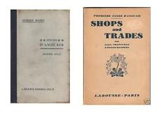 2 Livres : Cours d'Anglais ADRIEN BARET Shops and Trades Commercial CHAFFURIN