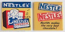 Nestle Crunch Bar FRIDGE MAGNET Set (2 x 2 inches each) chocolate sign