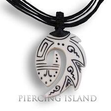 Tribal Amulett Anhänger Kette Horn Bone Maori Design Pb310