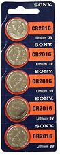 NEW 5 PK SONY CR2016 CR 2016 DL2016 3v LITHIUM BATTERY!