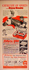 1951 Steve Brooks Horse Racing Kentucky Derby Gillette Vintage Sports Trade Ad