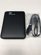 Western Digital 1 TB Portable External Hard Disk - Black WDBUZG0010BBK 1TB