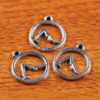50piece Ohm Yoga Charm Tibetan Silver DIY Jewelry Necklace Bracelet making D7242