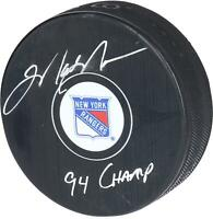 """Mark Messier New York Rangers Autographed Puck with """"94 Champ"""" Inscription"""
