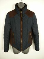 WOMENS NEW LOOK CLASSIC NAVY BLUE ZIP UP CASUAL WINTER QUILTED JACKET COAT UK 8