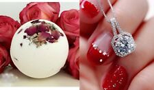 Huge Bath Bomb With Diamond Necklace Inside Fun Fizzy Bridesmaid Wedding Party