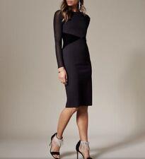 Karen Millen Mesh Sleeve Bodycon Dress Size 6
