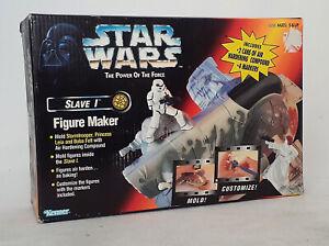 Vintage Retro Kenner Star Wars Boba Fett Slave 1 Figure Maker POTF 1997 Leia NEW