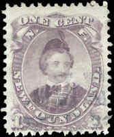 Used Canada Newfoundland 1868-94 F 1c Scott #32 Edward, Prince of Wales Stamp