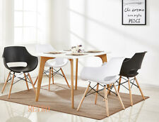 Dining table and modern  Eiffel  chairs retro   ,