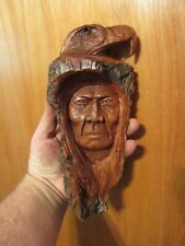 Wood Spirit Carving Wood Spirit, Native American Indian Wind Spirit