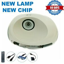 3M SCP712 Short-Throw DLP Projector, NEW Lamp - NEW Chip, w/Accessories