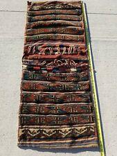 New listing Nice! Vintage Antique Handmade Woven EurAsian Carpet Wool Saddle Bag- Tribal