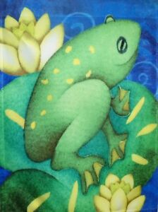 "Frog Pond Garden Flag by Toland #1106, 11"" x 14.5"""
