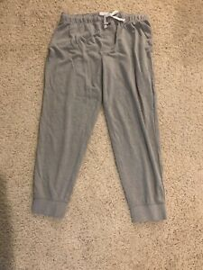 Tommy Hilfiger Sleepwear Joggers Pants Lounge Flag Logo Gray Men L Large
