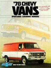 1978 Chevrolet Vans Dealer's Brochure ('78 Chevy Vans) Sportvans, Caravans and..