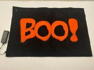 "The Gothic Collection Halloween Rug Floor Door Mat ""BOO"" Flashing Decor 23""x15"""