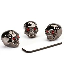 3pcs Electric Guitar Skull Head Volume Control Knobs---Black SH