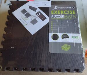 """Prosource Fit Puzzle Mat 3/4"""" Inch 6 piece 24 square feet NEW Yoga Exercise"""