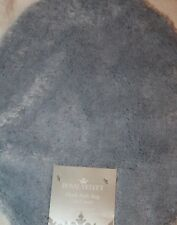 Royal Velvet Plush Bath Rug Lid Cover Silver Blue