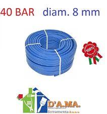 TUBO GOMMA ALTA PRESSIONE IRRORAZIONE FITOFARMACI 40 BAR diam. 8 mm RT 100 MT