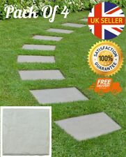 Set of 4 Garden Boards Rock Design Slabs Landscape Paths Step Feature Border