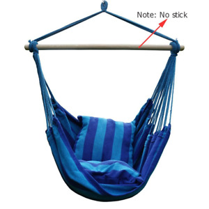 Hammock Hanging Rope Swing Seat With 2Pillow Home Indoor Outdoor  Chair