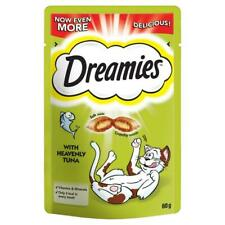 8 x 60g Dreamies Adult Cat Treats with Tuna Cat Biscuits (480g)