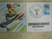 Extreme Sports Skateboarding 33c Stamp FDC HandPainted Collins#Y3001 Sc#3321