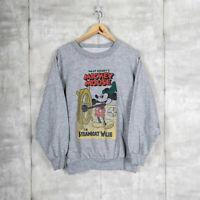 Walt Disney Mickey Mouse Steamboat Willie Vintage Sweatshirt Gray Size L