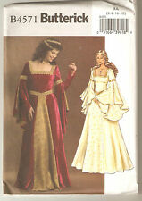 Butterick Sewing Pattern B4571 Miss Medieval Gown Costume Sz 6-12