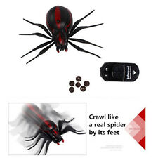 Realistic Fake Spider Scary Toy Remote Control RC Prank Halween Props Scary Gag