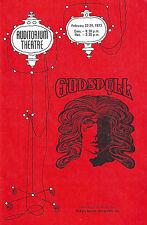 """Stephen Schwartz """"GODSPELL"""" Mary-Pat Green / Michael Hoit 1973 Denver Playbill"""