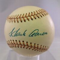 Beautiful 1975 Hank Aaron Playing Days Signed American League Baseball PSA DNA
