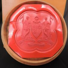 ANTIQUE TREEN BOX WITH WAXSEAL FOR THE GRAND CONCLAVE OF MASONIC KNIGHTS TEMPLAR