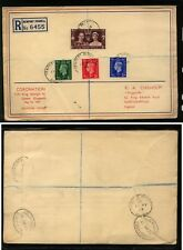 Great Britain large coronation cover 1937 first day Ms0120