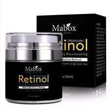 Mabox Face Cream  Retinol 2.5% Moisturizer Hyaluronic Acid Vitamin E Collagen