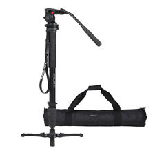 Aluminum Professional 66-inch Camera Monopod Tripod Stand With Pan-Head