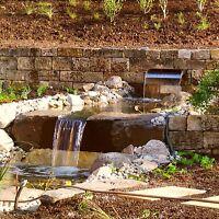 4,5 t Buntsandsteine € 335/t Natursteinmauer Outdoorküche Wasserfall Gartenteich