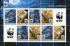 More details for guinea-bissau wild animals stamps 2015 mnh senegal galago bushbabies wwf 8v m/s