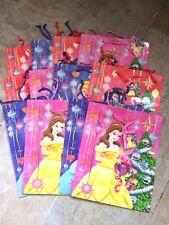 "Disney Princess Christmas Gift Bags x 7x9 "" Xmas wrap Bags Belle Cinderella £5!!"