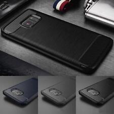 Fibra di Carbonio COVER CUSTODIA Hybrid TPU Per Samsung Galaxy S8 S7 Slim Armor