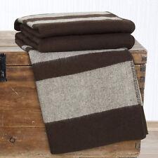Lavish Home Australian Wool Blanket - Full/Queen - Brown