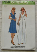 Vintage Dress Gown Sewing Pattern*Simplicity 7805*Size 10*UNCUT/FF*wedding long