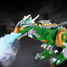 1Pc Electric Walking Dinosaur Dragon Fire Breathing Water Spray Kids Toy Gift