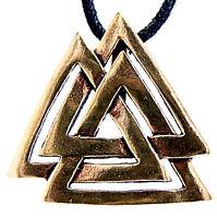 37 Wotansknoten Anhänger Zinn Pewter Wotans Knoten Wotan Odin Macht beidseitig